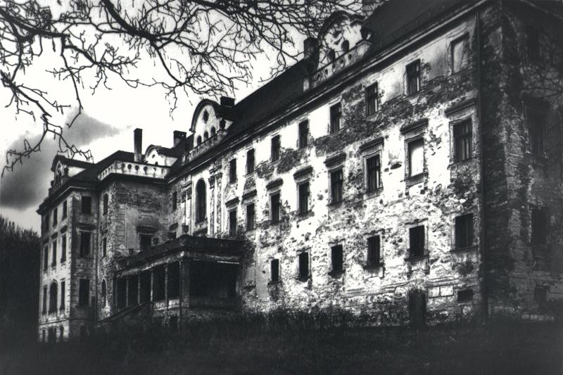 Pałac w Pyszczynie na Dolnym Śląsku, fotografia pigmentowa